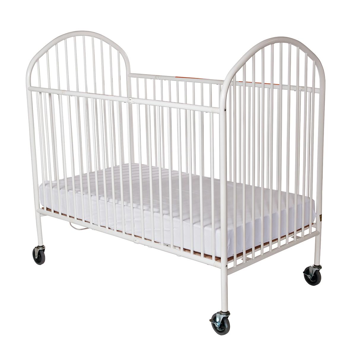 Compact Pinnacle Easyroll Folding Crib W 4 Casters