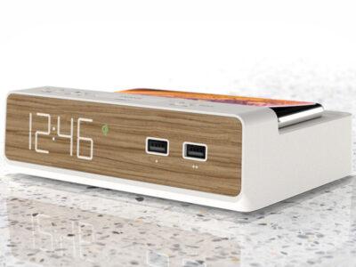 iHome Triple Display NFC Bluetooth Alarm Clock with
