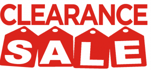 Clearance Sale, Inventory Liquidation