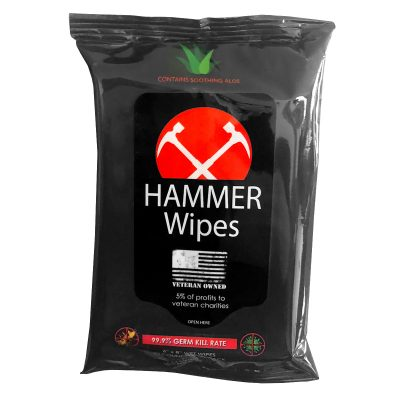 Sanitizer Wipes, Antibacterial Travel Pouch