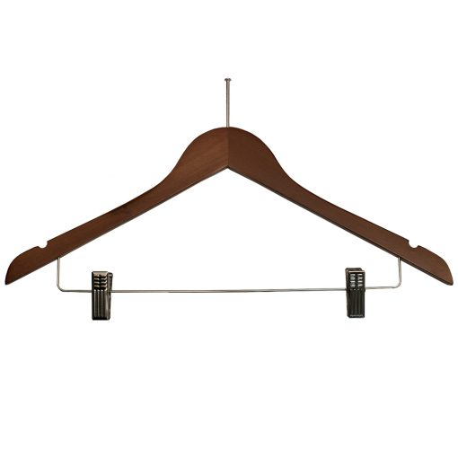 Ball-Top-Ladies-Hangers-with-Clips-for-hotels-Walnut_Chrome-32282