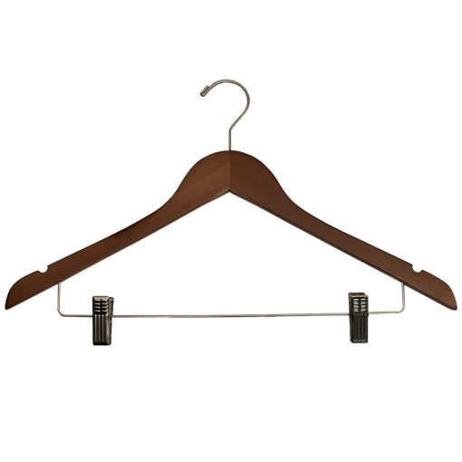 Ladies-Hangers-with-Clips-for-hotels-Walnut_Chrome-32272