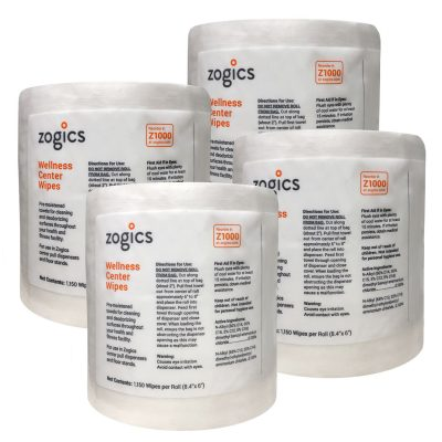 Disinfecting Wipes by Zogics, Wellness Center Wipes