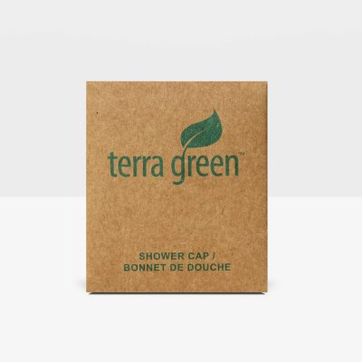 Shower Cap, Terra Green Collection, Recycled Box
