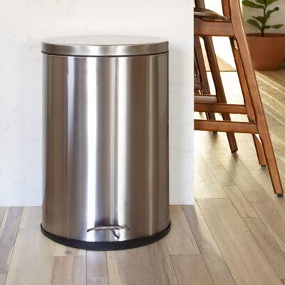 Trash Can, Stainless Steel, Wastebasket, Receptacle